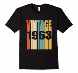 Custom Print T Shirt Cheap Australia - Custom T Shirts Cheap O-Neck Short Retro Vintage 1963 T-Shirt 55 Yrs Old Bday 55Th Birthday Tee Funny T Shirt For Men