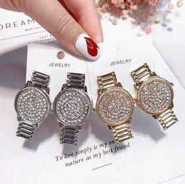 Watches Gifts For Girlfriend NZ - 2018Women Girls Watch Shape Stud Earring Rhinestone Luxury Designer Earring Gift for Love Girlfriend Brand Jewelry with Fast ShippingZ1168