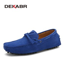 85c9c605086a DEKABR Brand Big Size Cow Suede Leather Men Flats 2018 New Men Casual Shoes  High Quality Men Loafers Moccasin Driving Shoes