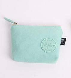 Simple cloth bagS online shopping - 2018 New Simple Korean version fresh coin change female Mini coin bag small wallet female zipper short cloth pocket money canvas D1807