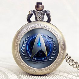$enCountryForm.capitalKeyWord Australia - Arrival Star Trek Cool Desgin Pocket Watch With Chain Necklace Birthday Christmas New Year for Men Women Children