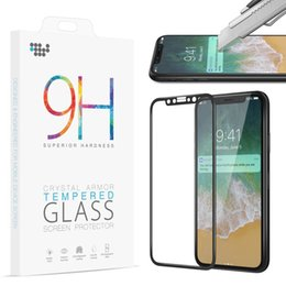 Iphone Glass Screen Guard Australia - 5D Edge Curved Tempered Glass for iPhone X 10 Screen Protector Full Coverage Film for iPhoneX Guard Protective 9H Hardness