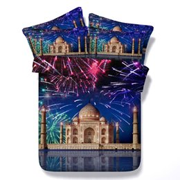 california king beds 2018 - 3D Castle Duvet Cover sets moon galaxy stars bedding sets queen scenery Bedspreads Holiday Quilt Covers Bed Linen Pillow