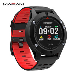 Discount smart watch altimeter - MAFAM F5 Smart Watch Heart Rate Monitor GPS Altimeter Barometer Thermometer Fitness Tracker IP67 Smartwatch For Phone