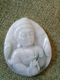Carved Jadeite Pendant Australia - Certified Oily Green Natural Jade Jadeite Carved Guanyin Pendant