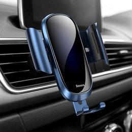 Baseus suporte do telefone do carro para o iphone samsung suporte do telefone móvel de metal gravidade carro de ventilação de ar monte gps suporte do telefone celular frete grátis