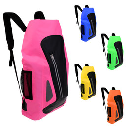 China New 25L Waterproof Dry Bag Backpack for Kayaking Camping Surfing Colorful Bags Camping Hiking Equipment Climbing Accessories supplier dry packs suppliers