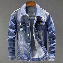China Style Jacket Australia - Casual Men 's Denim Jackets Overcoats European Style Vintage Male Jeans Coat Plus Size 3XL China Imported Clothing C1728