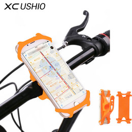 Discount silicone bag handles - XC USHIO Bicycle Phone Holder Silicone Waterproof For 4-6 Inch Mobile Phone Holder Flexible GPS Bike Handlebar Mount Bra