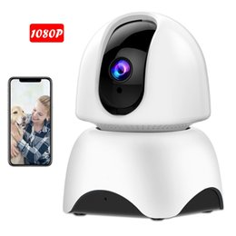 Audio Ip Camera Australia - 1080P FHD Wifi IP Camera with Panoramic Capture, Motion Detection, Night Vision, Two-Way Audio, P2P Pan Tilt, Home Camera for Baby Elder Pet