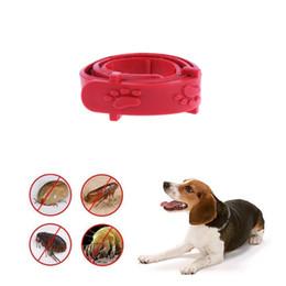 Dog Collars Flea NZ - Red Adjustable Outdoor Dog Cat Rabbit Neck Strap Anti Flea Mite Acari Tick Remedy Pet Collar Pet Protection Accessories