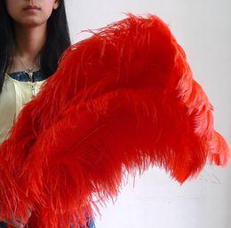 $enCountryForm.capitalKeyWord Australia - wholesale 50pcs pack High Quality Beautiful Red Ostrich Feather Wedding centerpiece decor