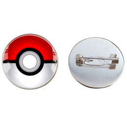 $enCountryForm.capitalKeyWord UK - SUTEYI Funny Cute Girls Brooch Pin Jewelry Children Pokeball Glass Cabochon Silver Plated Pin Brooch Cartoon Jewelry