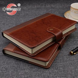 b5 notepad 2020 - A5 B5 buckle leather notebook business office stationery custom-made diarybook custom 1 pcs cheap b5 notepad