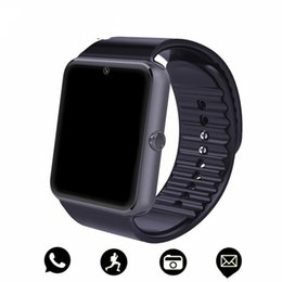 $enCountryForm.capitalKeyWord Australia - GT08 Bluetooth Smart Watch with SIM Card Slot Health Watchs for Android Samsung IOS Apple Smartphones Bracelet Smartwatch