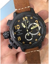 u boat watches 2019 - Wholesale-Brand New Men's Automatic Mechanical Rose Gold Boat Stainless Steel Brown Cow Leather Sports 50mm Tourbil