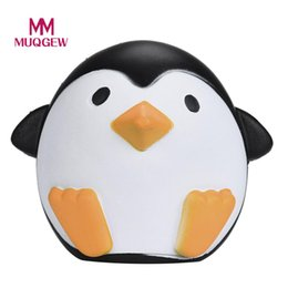 Wholesale MUQGEW Brand Cute Artificial Squishy Penguin Shape Cream Scented Slow Rising Relieves Stress Anxiety Toy for Child Adult Anxiety