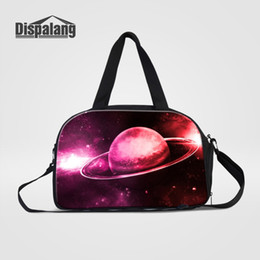 $enCountryForm.capitalKeyWord NZ - Custom Galaxy Universe Space Travel Bags Women Men Portable Outdoors Duffle Clothes Shoes Shoulder Bag For Traveling Weekend Bag