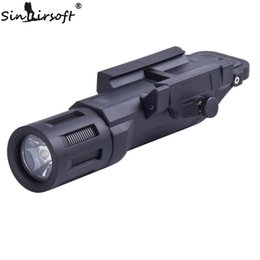 tactical flashlight strobe 2019 - SINAIRSOFT Tactical Multifunction WML Mounted Flashlight White LED Constant Momentary & Strobe Hunting Light Fit 20mm Ra