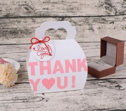 Shape Boxes Australia - Thank you Handbag shape Paper bag wedding gift box favor holders candy ring chocolate bag flat packed