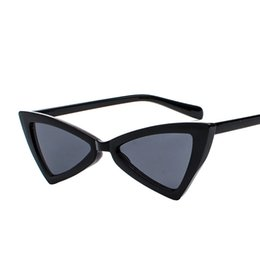 sunglasses multicolor lenses Canada - High Quality Multicolor Ladies Triangular Cat Eyes Glasses Anti-UV400 PC Lenses Full Framel Sunglasses for Women