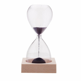 Chinese  1pcs Magnet Hourglass Awaglass Hand-blown Sand Timer Desktop Decoration Magnetic Hourglass Purple manufacturers