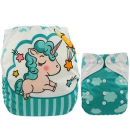 christmas cloth diapers 2019 - Baby Diapers Reusable Nappies Christmas Cartoon Positional Digital Print Newborn Cloth Diaper Washable Pocket Diaper Cov