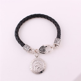 $enCountryForm.capitalKeyWord Australia - Fashion In 2018 Unisex Bracelet Religious Story Pattern Charm Gift And Amulet Choose Zinc Alloy Material Provide Dropshipping
