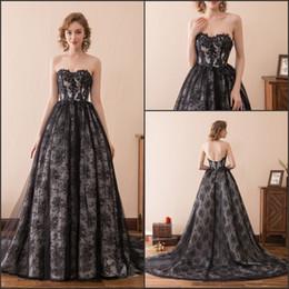 937ebac8831 Gothic corset black weddinG dress online shopping - Charming Strapless Gothic  Lace Black Wedding Dresses Train