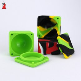 $enCountryForm.capitalKeyWord NZ - Cheapest Silicone Wax Container Silicon Jar Square Wax Containers with Tobacco Storage Box dab Wax Silicone Jars