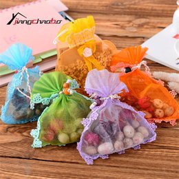 Scented Wardrobe Sachets Australia - 5Pcs Lot Lace Lovely Fresh Air Scented Fragrance Home Wardrobe Drawer Car Perfume Sachet Bag New
