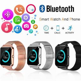 Bluetooth Smart Watch Sim Australia - SALE!!!! Z60 Smart Watch Bluetooth Smartwatch with Luxury Stainless Steel Support SIM and TF Card Smartwatch for IOS Android with Retail Box