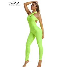 d309ba9a6d Women Yoga Set Sports Sleeveless Jumpsuits Jogging Gym Clothes Quick Dry  Showcase sexy hips Sportswear Fitness Set Jumpsuits
