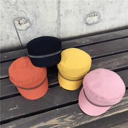 Fallen Hats Australia - Candy Colors Navy Hat Fall Winter Newsboy Cap Women Eight-panel Hat Cotton Baker Boy Caps Retro Women Hats