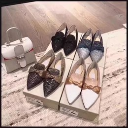 $enCountryForm.capitalKeyWord Canada - Hot Sale Girls Fashion Pointed Toes Bowtie Flat Single Shoes Femal Rhinestone Spring Autumn Shallow Mouth Flat Wedding shoes Free Shipping
