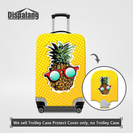 $enCountryForm.capitalKeyWord NZ - Cute Pineapple Cartoon Thick Elastic Luggage Protective Cover For 18-30 Inch Trunk Women's Fashion Case For A Suitcase Dust Covers Wholesale
