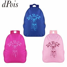 kids blue dance shoes NZ - DPOIS Fashion Kids Ballet Dance Bags for Girls Students School Backpack Dancing Shoes Cartoon Print Ballet Bag Sports Backpack