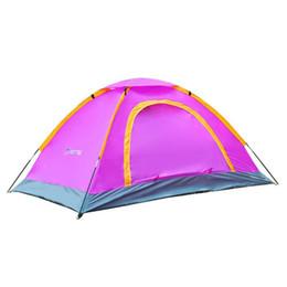 Discount sun camp tents - ZHIHUI Outdoor double double door sun protection rain UV Beach tent 2 camping tent