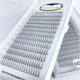 Wholesale 10Cases mm C Lashes Lines Individual Flare Eyelashes D Heat Bonded Premade Russian Volume Eyelash Extension Supplies