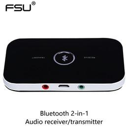 Receptor / transmissor de áudio Bluetooth 2-em-1 com porta de áudio estéreo de 3,5 MM adpat para TV PC CD player ipad iphone em Promoção