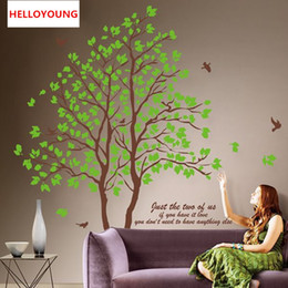 $enCountryForm.capitalKeyWord Canada - Large 3D Removable Dining Room All-match Style Art Mural Wall Stickers Home Furnishing Decorative Green Trees