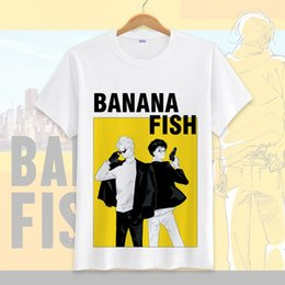 yellow fish costumes NZ - 2018 Hot Sale Anime banana fish T-shirt Cosplay Costume For Women Men Summer O-neck Short Sleeve Tops