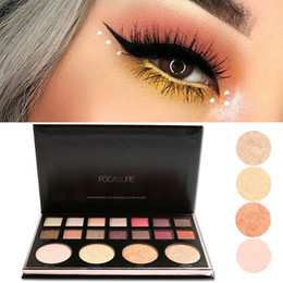 $enCountryForm.capitalKeyWord Canada - FOCALLURE 18 Colors Natural Eye Shadow Nude Face Beauty Pro Eyeshadow Palette Earth Eye Highlighter Glitter Korean Cosmetic