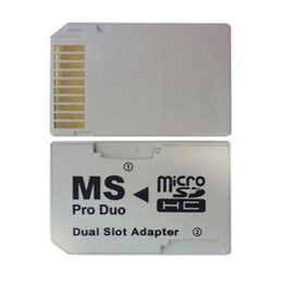 Pro duo cards online shopping - NOYOKERE New Hot Sale Dual Slot Micro For SD SDHC TF to Memory Stick MS Card Pro Duo Reader Adapter For PSP