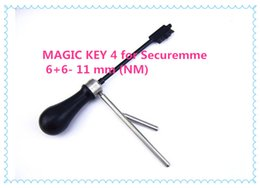 magic pick tool UK - 2019 FREE SHIPPING HIGH QUALITY NEW PRODUCT master key decoder locksmith tools MAGIC KEY 4 for Securemme 6+6- 11 mm (NM) pick tools