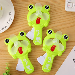 $enCountryForm.capitalKeyWord Canada - Portable Hand Held Frog Fan Desk Humidification Cartoon Mini Hand Pressure Fans Ventilador Mini Handheld Water Mist Fan Kids Toy