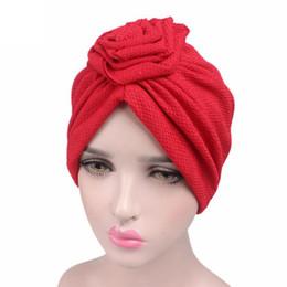 Women Roses Cancer Chemo Hat beanies female Scarf Turban Head Wrap Cap  vintage hats for women LRSN 841108fa5db