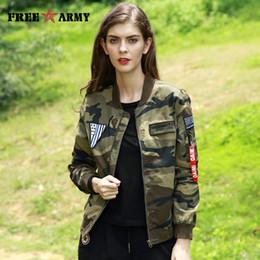 Ladies Pilot Jacket NZ - 2017 Autumn Pilot Jacket Designer Bomber Jacket Female Military Army Camouflage Jacket Women Zipper Fashion Coat Jackets Ladies GS-8823C