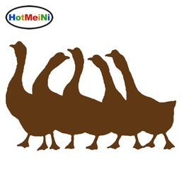$enCountryForm.capitalKeyWord Australia - Wholesale Car-Styling Group Geese Warm Happy Family Car Sticker for Motorhome wall Vinyl Decal Decor