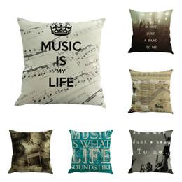 629c4e680a69 Music concert notes linen pillow office cushion pillowcase custom  Decorative Throw Pillows cushion covers pillow cover